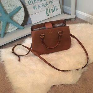 Kate Spade Evangelie Larchmont Avenue Cognac Bag